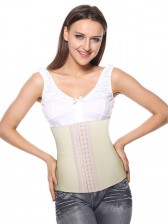 Women's Ivory Latex Steel Bone Underbust Corset