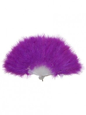 Purple Burlesque Feather Fan