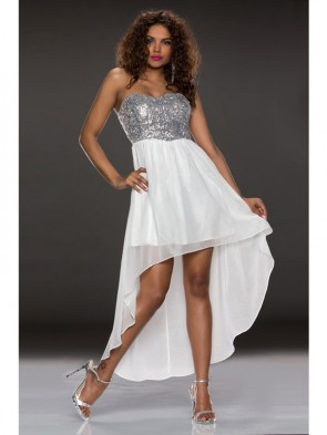 White Sexy Dew Chest Dress