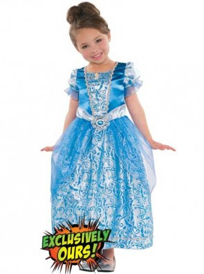 Girls Glitter Cinderella Disney Princess Costume