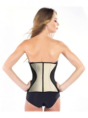 9 Flexi Steel Boned Apricot Latex Waist Trainer Waist Training Cincher