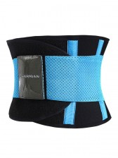 Workout Blue Neoprene Waist Trainer Belt for Hourglass Figure