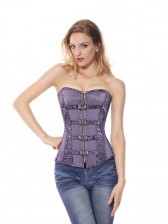 Buckle Brocade Corset Top
