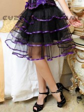 Clearance! Burlesque Style Multi Layer Tulle Skirt - Purple