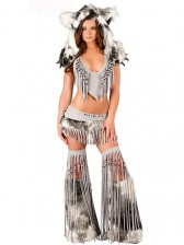 Deluxe Sexy Indian Costume - Grey