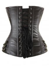 Maroon Chains Steam Punk Corset