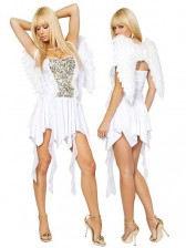 White Angel Costume with Wings