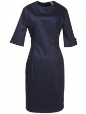 Modest Vintage Ladies Half Sleeve Midi Dress