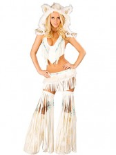 Deluxe Sexy White Indian Costume