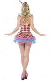 Neon Harlequin Clown Costume