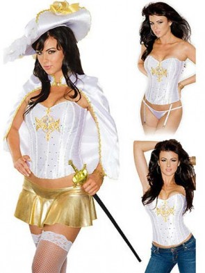 Royal Musketeer Corset Costume Set