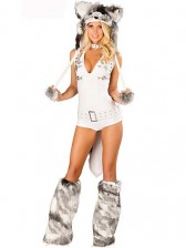 Womens Deluxe White Husky Costume