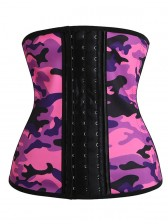 Camouflage Sports Steel Boned Latex Waist Trainer Waist Traning Corset