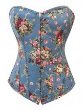 Blue Denim Cotton Corset