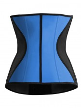 9 Flexi Steel Boned Blue Latex Waist Trainer Waist Training Cincher