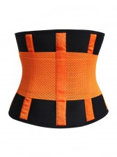 Workout Orange Neoprene Waist Trainer Belt for Hourglass Figure