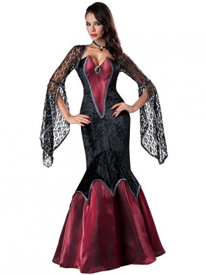 Piercing Beauty Sexy Dark Mistress Vampire Costume
