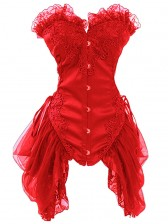 Burlesque Red Bustier Corset