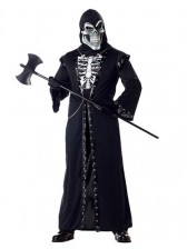 Crypt Master Halloween Costume with Skull Mask
