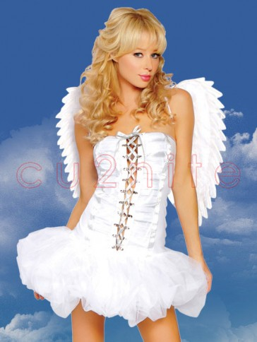 Sweet Angel Costume With Wings