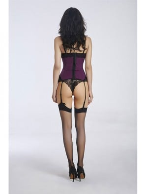 Women's Fashion Purple Lace Bustier Corset