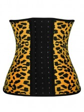 Vibrant Color Leopard Print Latex Waist Training Corset Waist Trainer