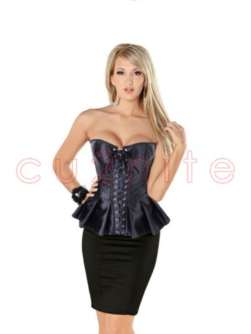 Black Skirted Corset