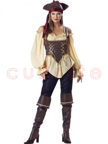 Deluxe Womens Rustic Pirate Costume