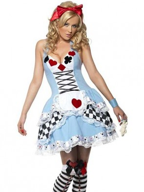New Arrival! Playing Card Alice Costume