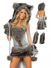Deluxe Grey Wolf Costume Set
