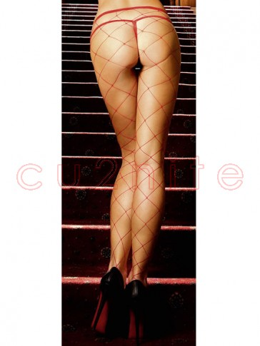 New Arrival! Red Fence Net Pantyhose
