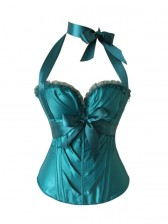 Satin Sweetheart Halter Neck Corset