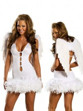 Naughty Angel Costume with Wings