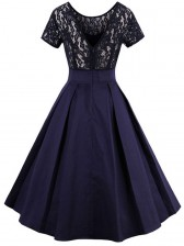 Women's Vintage Summer Lace High-low Ruffled Dress
