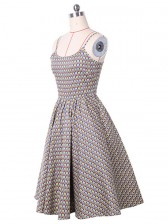 1950's Sexy Strap Floral Print Casual Swing Dress