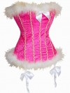 Pink Velvet and Marabou Corset