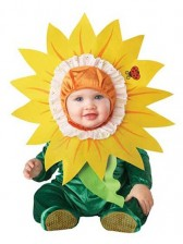 Silly Sunflower Baby Costume Onesie