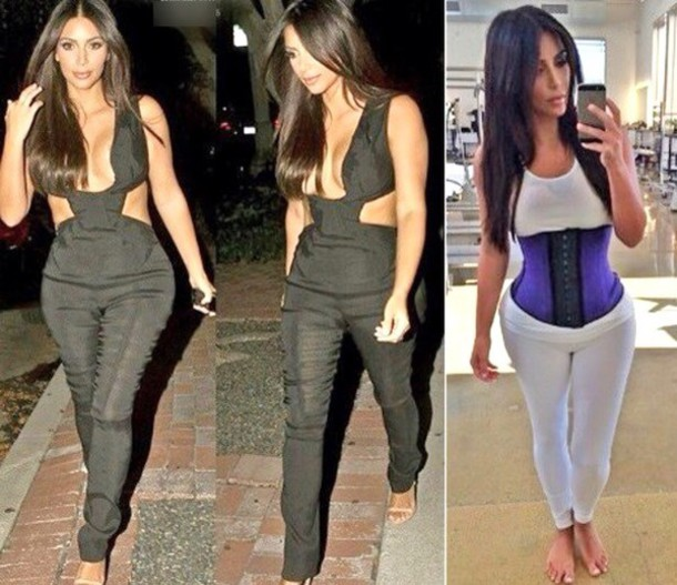 latex waist training kim kardashian