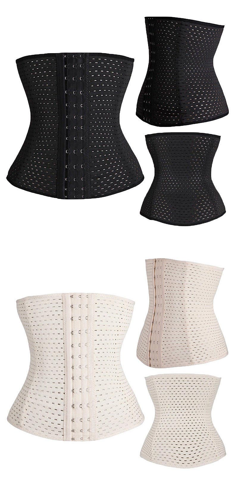 spiral steel boned waist trainer